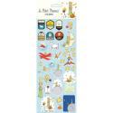 Planche de stickers autocollants Le Petit Prince V2 (31x11cm)