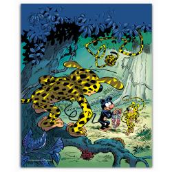 Poster affiche offset Marsupilami, Collier de fleurs (28x35,5cm)