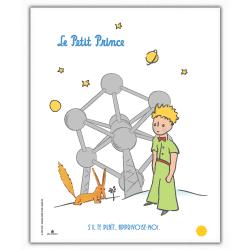 Poster affiche offset Le Petit Prince, Atomium (18x24cm)
