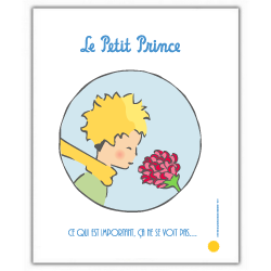 Poster offset The Little Prince with the rose (18x24cm)
