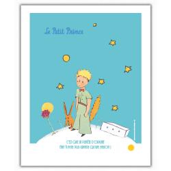 Poster affiche offset Le Petit Prince avec le renard (18x24cm)