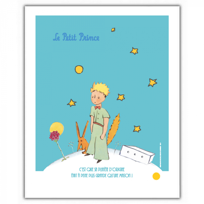 Poster offset The Little Prince with the fox (18x24cm)