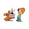 Decorative magnet Billy and Buddy, Happy Birthday (79x55mm)