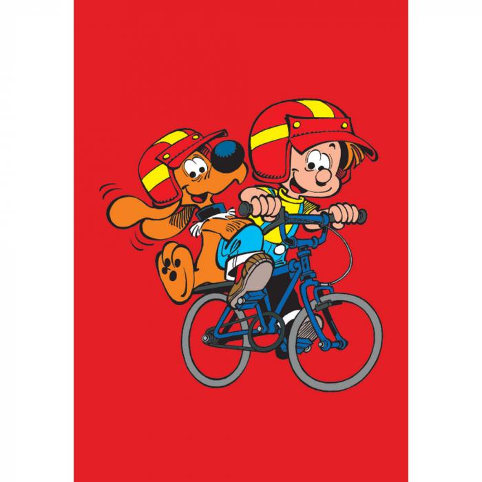 Aimant magnet décoratif Boule et Bill, sur le vélo (55x79mm)