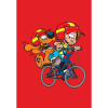 Imán decorativo Bill y Bolita, en la Bicicleta (55x79mm)