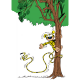 Aimant magnet décoratif Marsupilami, sur l'arbre (55x79mm)
