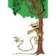 Imán decorativo Marsupilami, en el árbol (55x79mm)