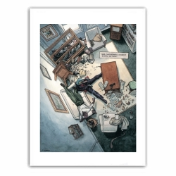 Póster cartel offset Blacksad, escena de crimen (28x35,5cm)