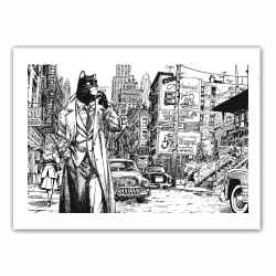 Poster affiche offset Blacksad, New York (35,5x28cm)