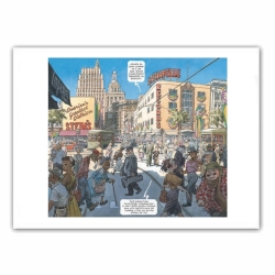 Poster affiche offset Blacksad, City Talk (35,5x28cm)