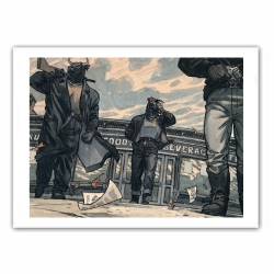 Poster offset Blacksad, the Band (35,5x28cm)