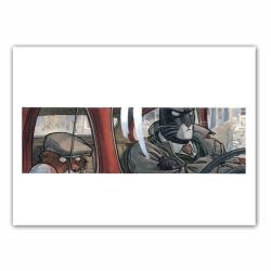 Poster affiche offset Blacksad, Planque dans la voiture (35,5x28cm)