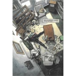 Carte postale de Blacksad, scène de crime (10x15cm)