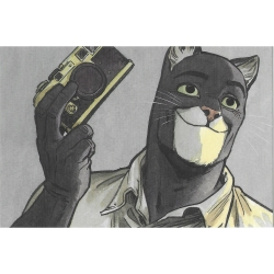 Postcard Blacksad, Photographer (15x10cm)