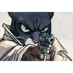 Carte postale de Blacksad, avec le pistolet (15x10cm)