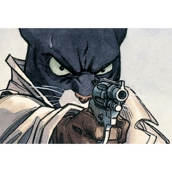 Postcard Blacksad, with the gun (15x10cm)