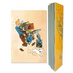 Poster Moulinsart Tintin carrying books 23003 (40x60cm)
