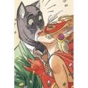 Postcard Blacksad, the kiss (10x15cm)