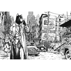 Carte postale de Blacksad, New York (10x15cm)