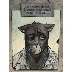 Carte postale de Blacksad, je me sentais profondément triste (10x15cm)