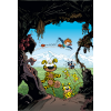Postcard Marsupilami, mountain adventure (10x15cm)