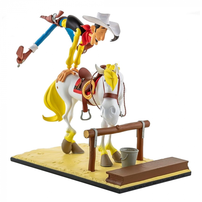 Collectible figurine LMZ Lucky Luke and Jolly Jumper 17cm (2019)