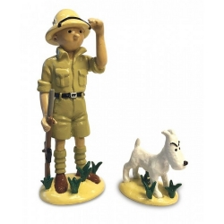 Collectible figurine Tintin and Milou in the Congo 46523 (2018)