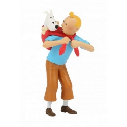 Collectible figurine Tintin fetches Snowy 8cm Moulinsart 42508 (2020)