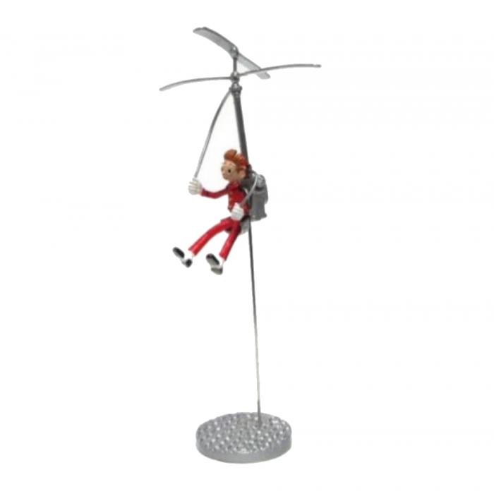 Figurine de collection Atlas Spirou et le Fantacopter HS 12cm (2006)