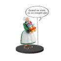 Figurine de collection Plastoy Bécassine avec une pile de cadeaux 66600 (2020)
