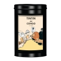 Moulinsart Tin Ground Coffee Box, Tintin in Congo colorized, Lion (250g)