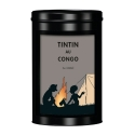 Moulinsart Tin Ground Coffee Box, Tintin in Congo colorized, Campfire (250g)