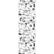 Paper Bookmark Blake and Mortimer, Black and white drawings (25x80mm)