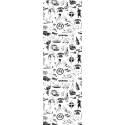 Paper Bookmark Blake and Mortimer, Black and white drawings (50x170mm)