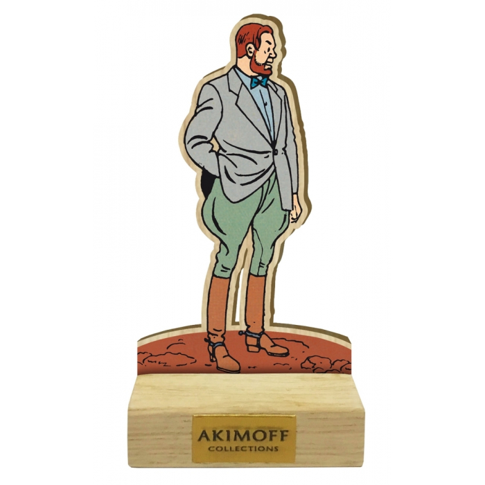 Collectible wood figurine Akimoff Blake and Mortimer, Philip Mortimer (2020)