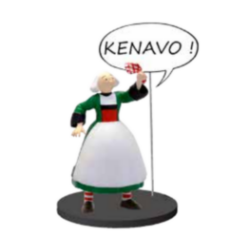 Collectible figurine Plastoy Bécassine, Kenavo ! 66605 (2020)