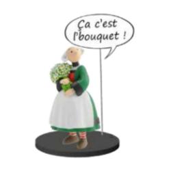 Figurine de collection Plastoy Bécassine avec un bouquet de fleurs 66624 (2020)