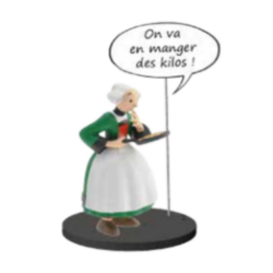 Collectible figurine Plastoy Bécassine with her pancake stove 66602 (2020)