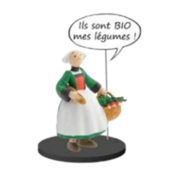 Collectible figurine Plastoy Bécassine back from the market 66604 (2020)
