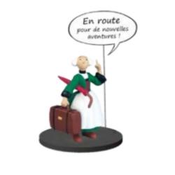 Collectible figurine Plastoy Bécassine with suitcase and umbrella 66601 (2020)