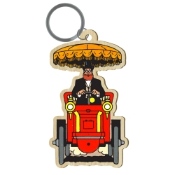 Wood keychain figurine Akimoff Blake and Mortimer, Grossgrabenstein (2020)