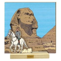 Escena de colección Akimoff Blake y Mortimer, Philip Mortimer a caballo (2020)