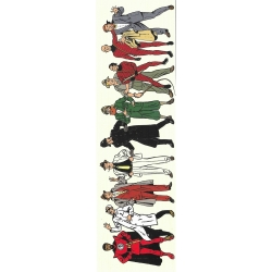 Marque-page en papier Blake et Mortimer, les personnages (50x170mm)
