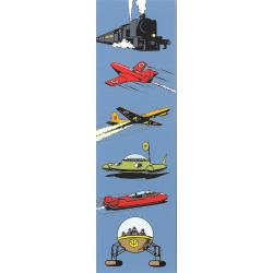 Marcapáginas de papel Blake y Mortimer, vehículos (50x170mm)