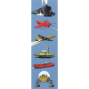 Paper Bookmark Blake and Mortimer, vehicles (50x170mm)