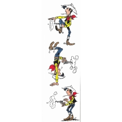 Paper Bookmark Lucky Luke, shooting (50x170mm)