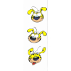 Marcapáginas de papel Marsupilami, retratos divertidos (50x170mm)