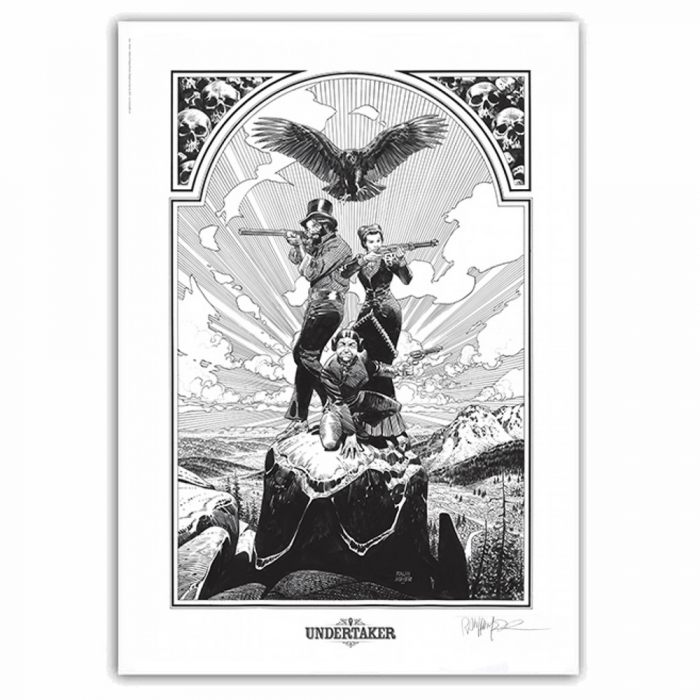 Poster offset Undertaker, The Team Ralph Meyer signed (50x70cm)