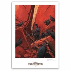 Poster offset Undertaker, T2 La Dame des Vautoursr Ralph Meyer signed (50x70cm)