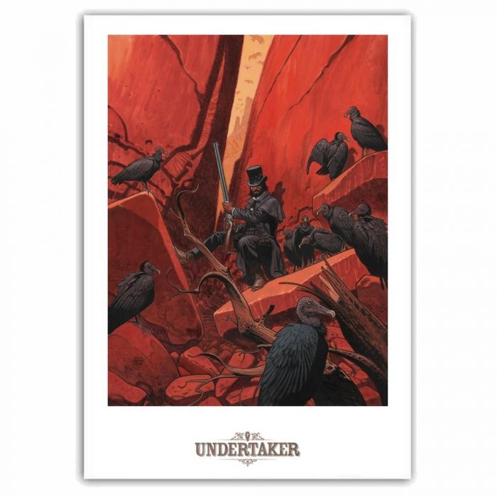 Poster offset Undertaker, T2 La Dame des Vautoursr Ralph Meyer (50x70cm)